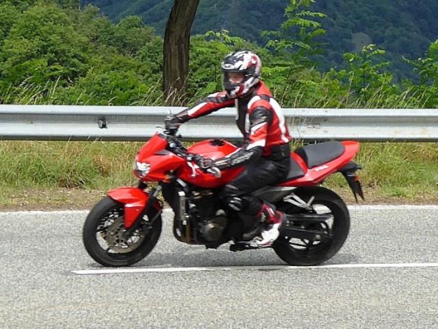 Charlie on his Kawasaki Z750