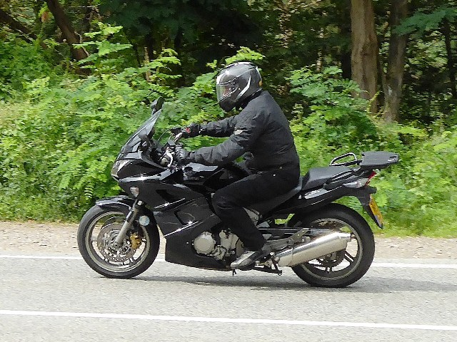Martin on his Honda CBF1000