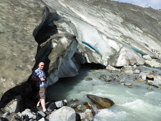 Andy reaches the glacier
