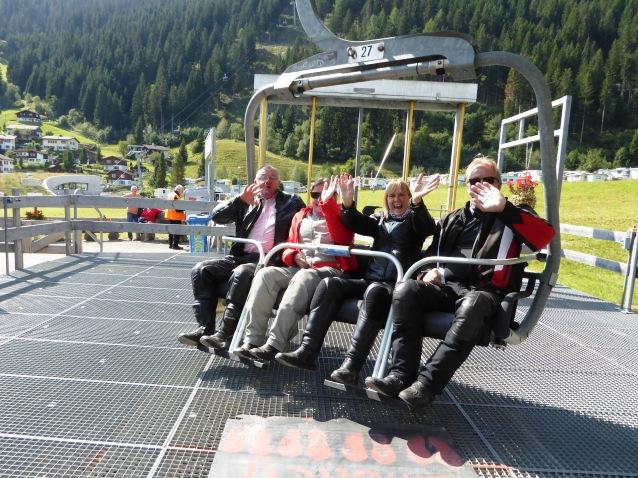Take the ski-lift up,,,