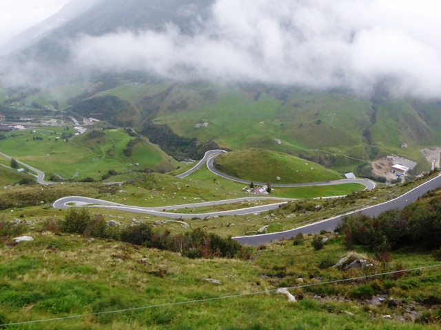 Riding down the Furka Pass