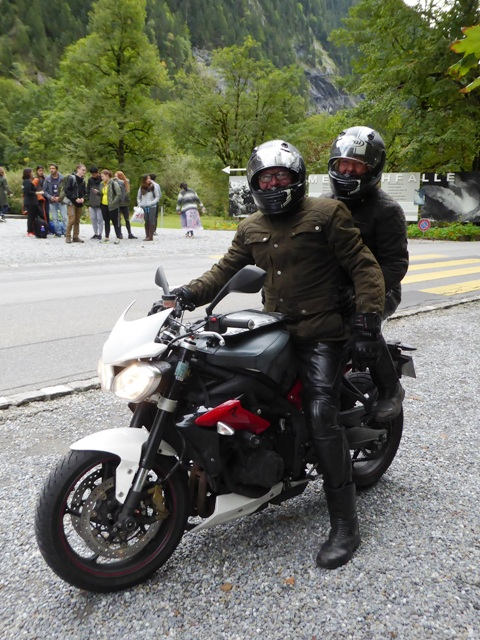 Martyn & Claire ride our Street Triple