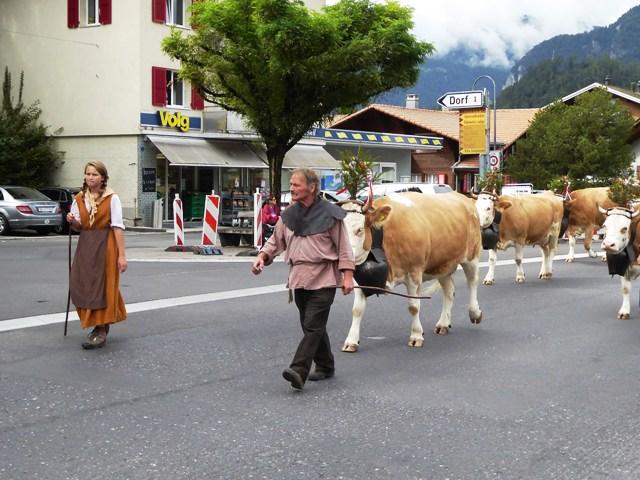 Procession en route