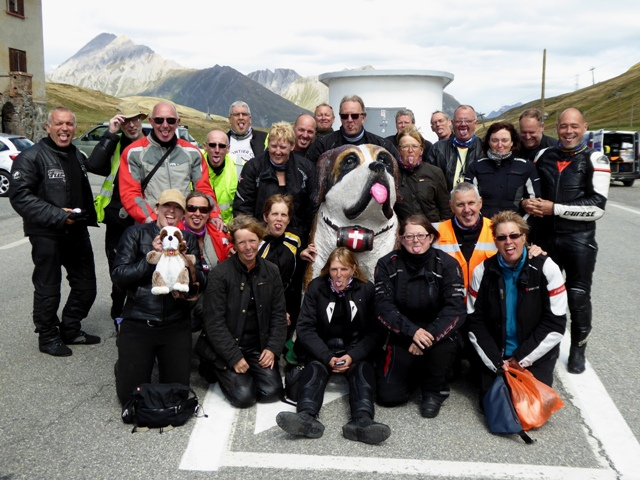 The group at the top of the Petit St Bernard Pass - a brilliant tour, great weather, great riding & great people - there are no apologies for the number of photos which follow!