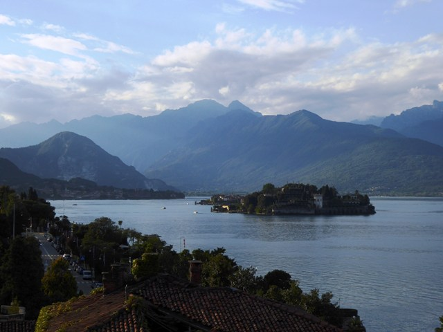 The view of Lake Maggiore from our hotel where we stay for two nights