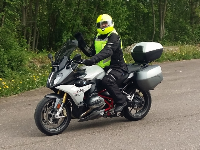 Vonce B on his BMW R1200RS