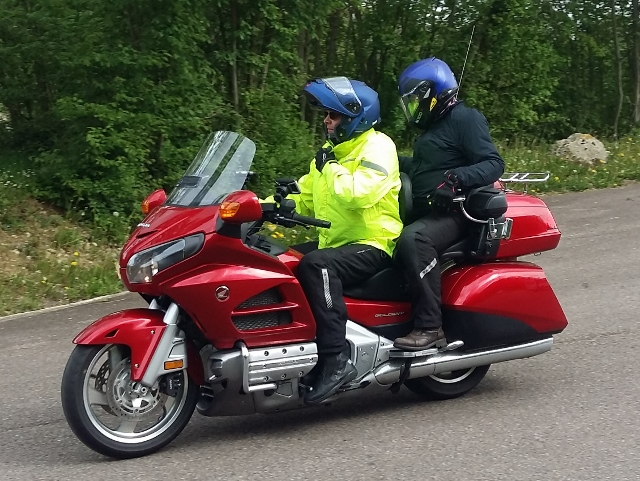 Vince & Tracey on thir Honda Goldwing