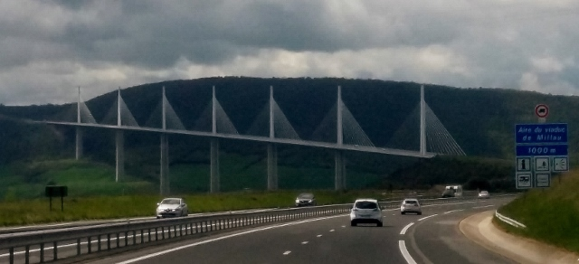 We approach the Millau Bridge