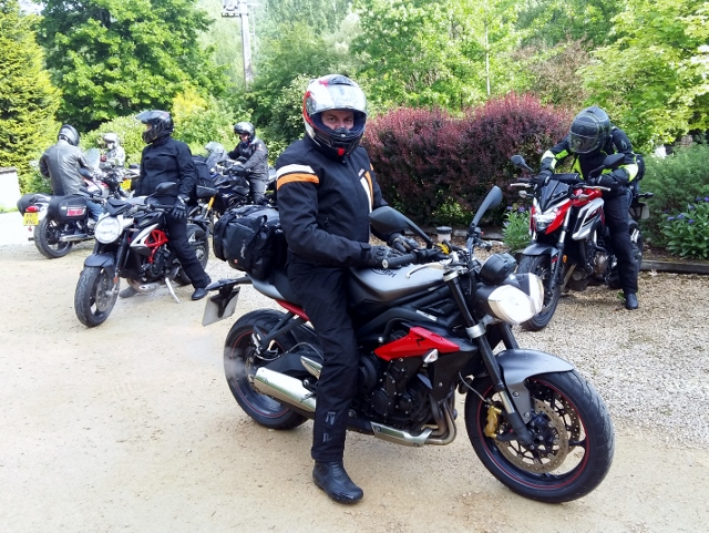 John on his Street Triple