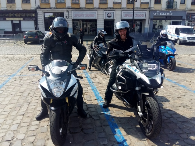 Nick - GSXR750 & Tom - BMW