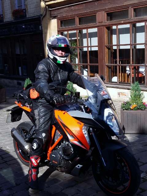 Mick on his KTM 1290 Superduke GT