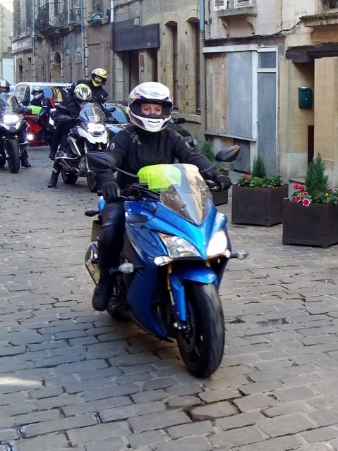 Lisa on her Suzuki GSXS 1000F