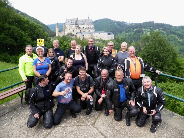 The group in Luxembourg - Oakley MC are the first to ride our new 5x4 tour & we think it was a huge success!