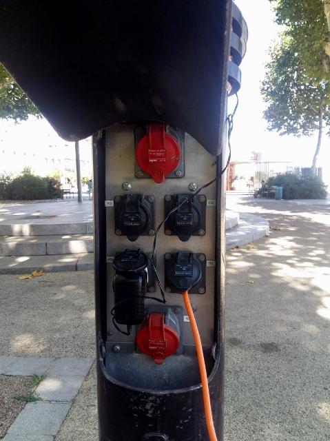 We find a communal plug...