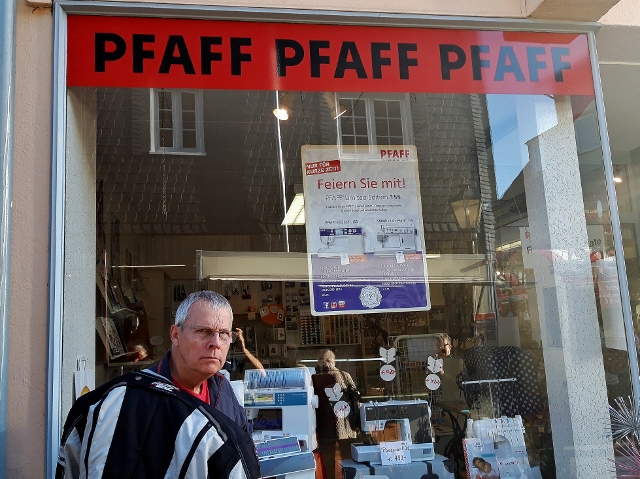 Ken's found his ideal shop !!