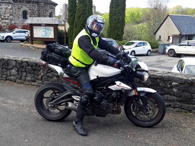 Ken on his Triumph Street Triple