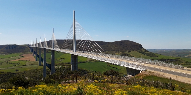 Ride across the Millau Bridge