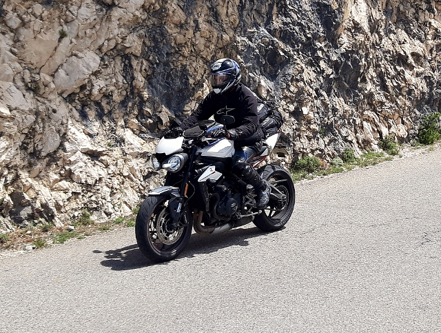 Ken on his Street Triple R