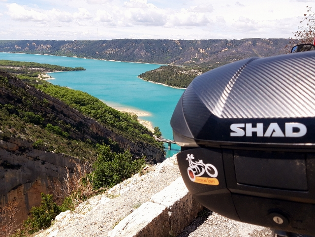 The V-Strom has new SHAD luggage