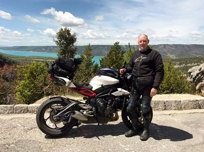 Ken with his Street Triple R