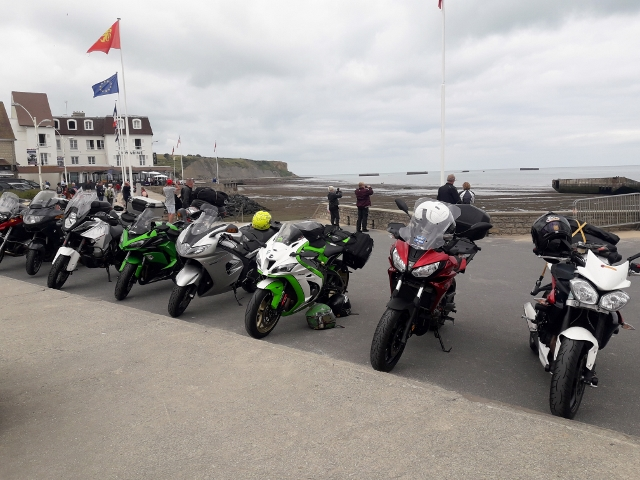 Bikes lined up at Arromanches