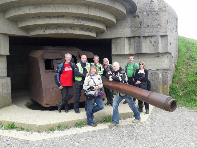 Next stop the German Gun Batteries