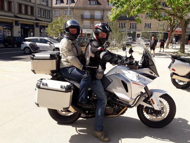 Jane & Andy on their KTM 1290 Adventure T
