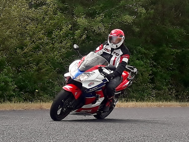 Chris H on his Honda VFR