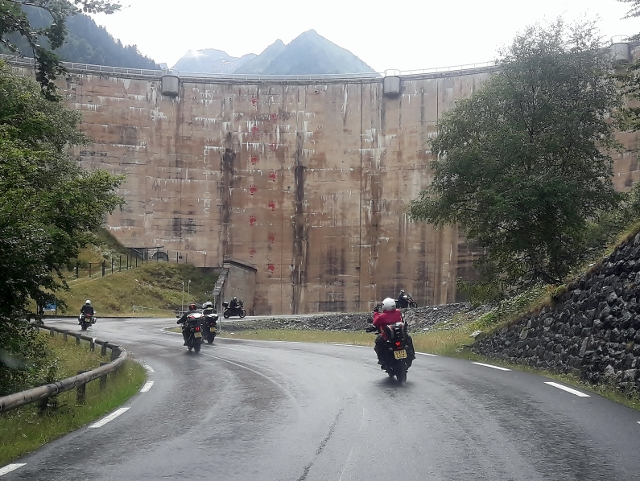 Ride past the dam