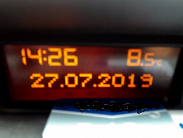 Mid afternoon & only 8.5 degrees !