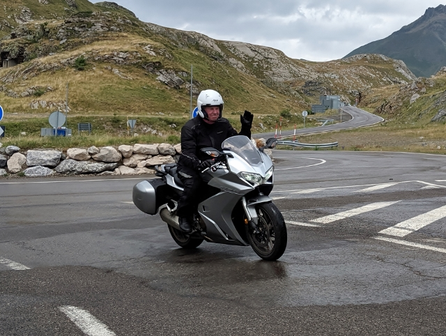 John S on his Honda VFR 800 (thanks Simon)