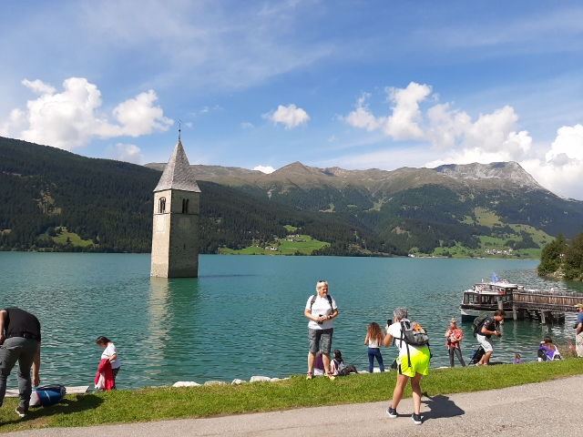 Sunken church at Graun Im Vinschgau