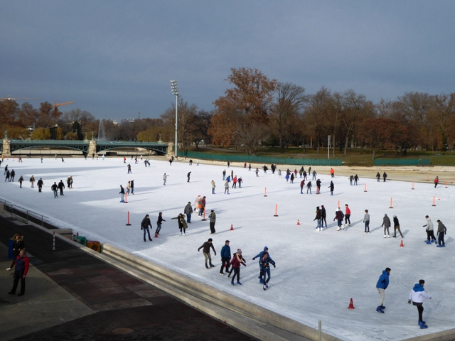 We didn't brave the ice rink!