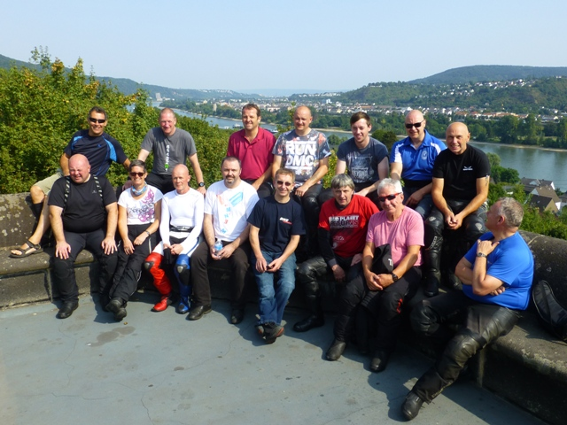 The Group on the 4x4 Tour overlooking the Rhine