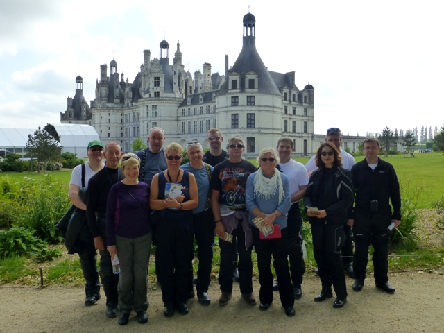 The group at Chambord Chateau