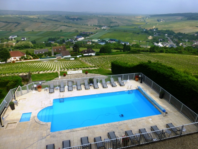 Fabulous views over the vineyards from our hotel
