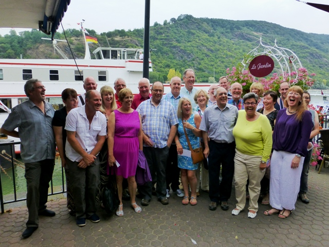 The Rhine in Flames group ready to embark.
