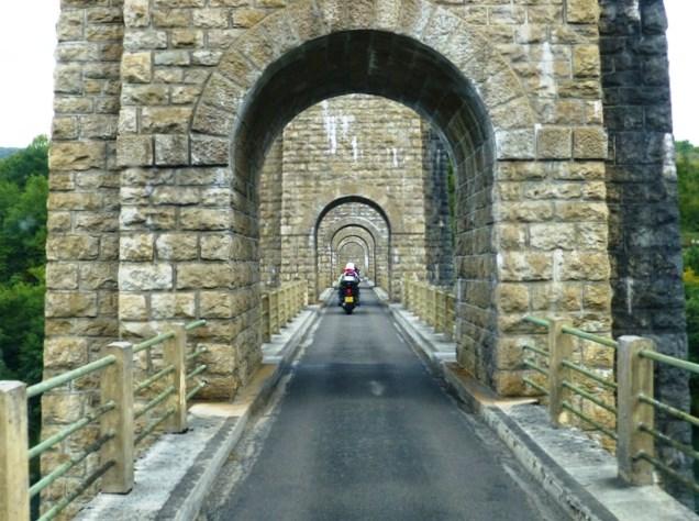 A deviation send us across a viaduct