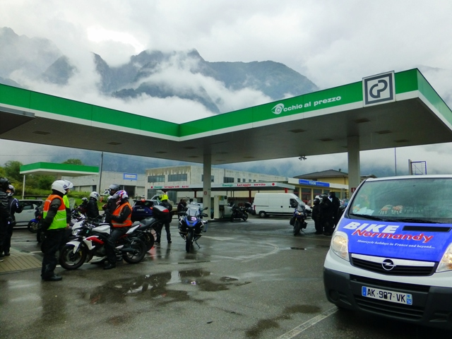 Fuel stop before heading into Switzerland