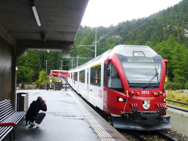 We then take the Bernina Express