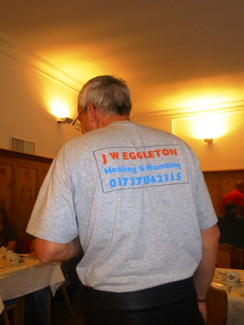 Ken wears a 20 yr old JW Eggleton plumbing t-shirt!