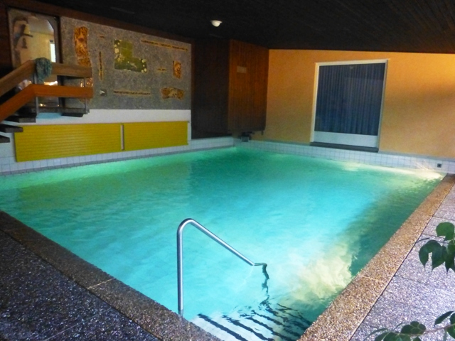 The hotel swimming pool