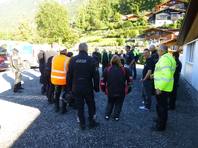 Our morning briefing before we leave Switzerland