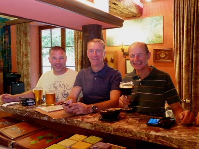 Andy, Russ & Keith in the hotel bar