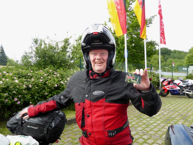 Dave with his Nurburgring pass