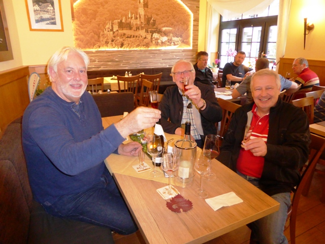 Andy B, David & Allan sample the local brew!