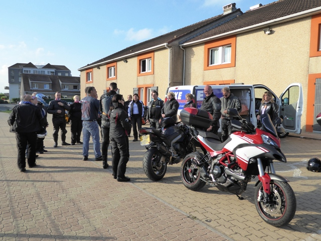 We start at Calais with a pre-tour briefing