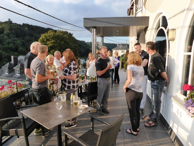 Drinks on the terrace