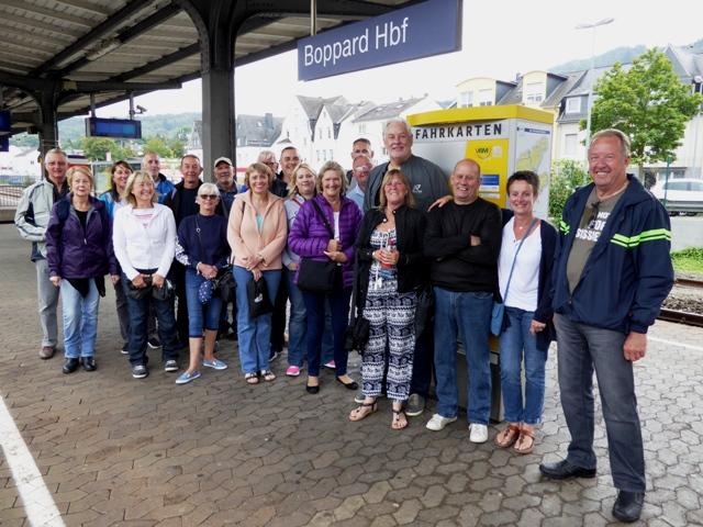 The next day many take the train to Rudesheim
