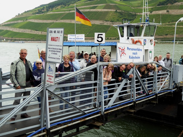 We take the ferry across the Rhine